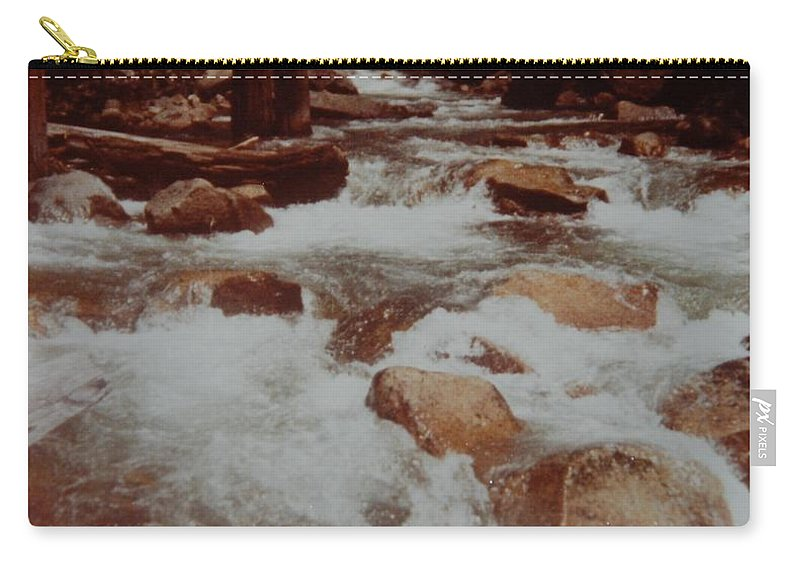 Water Carry-all Pouch featuring the photograph Rushing Water by Rob Hans