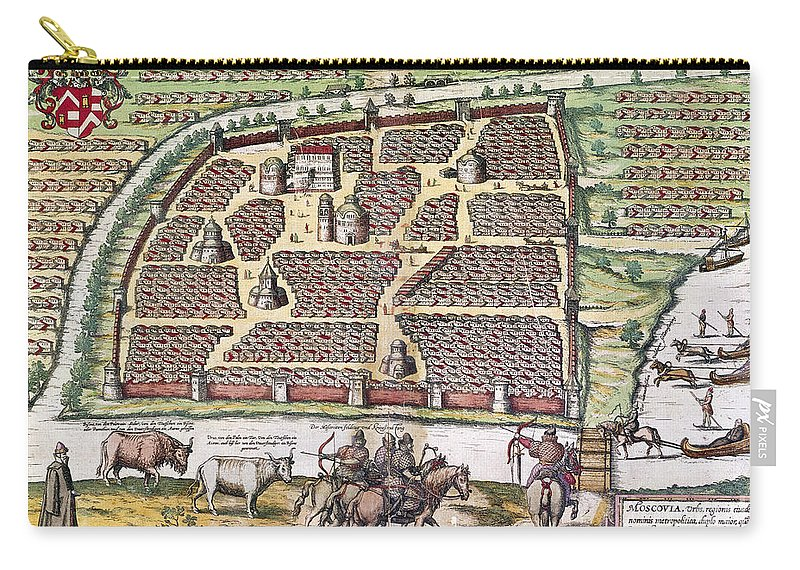 1591 Carry-all Pouch featuring the photograph Russia: Moscow, 1591 by Granger