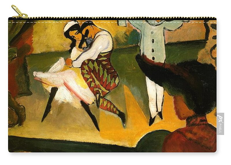 August Macke Carry-all Pouch featuring the painting Russian Ballet by August Macke