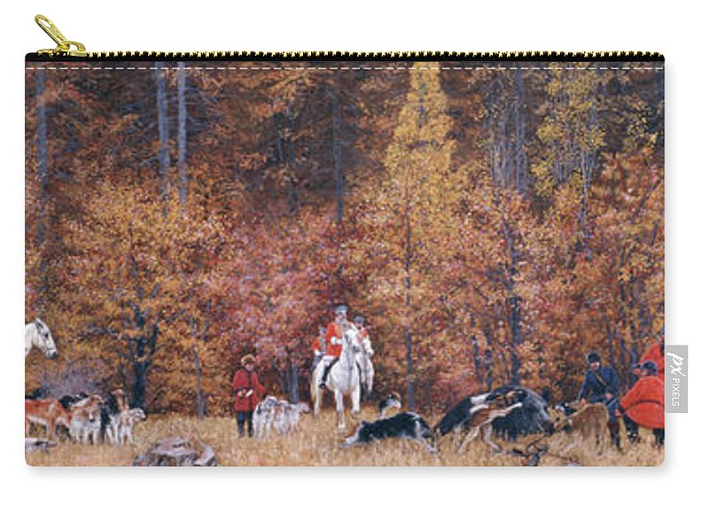 Russian Carry-all Pouch featuring the painting Russian Hunting by Simon Kozhin