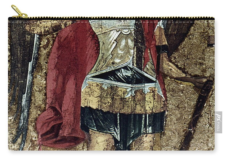 15th Century Carry-all Pouch featuring the photograph Russian Icons: Michael by Granger