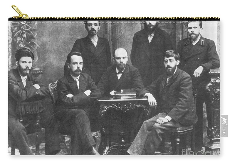 1897 Carry-all Pouch featuring the photograph Russian Marxists, 1897 by Granger