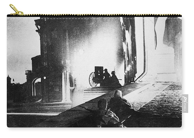 1917 Carry-all Pouch featuring the photograph Russian Revolution, 1917 by Granger