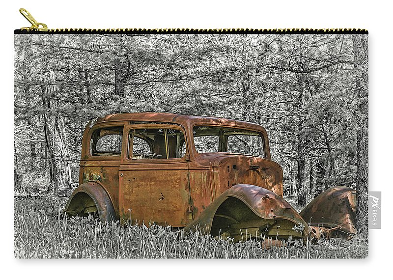 Car Carry-all Pouch featuring the photograph Rust In Peace by Joe Hudspeth