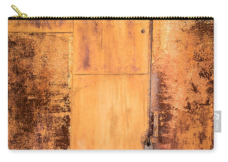 Abstract Carry-all Pouch featuring the photograph Rust On Metal Texture by John Williams