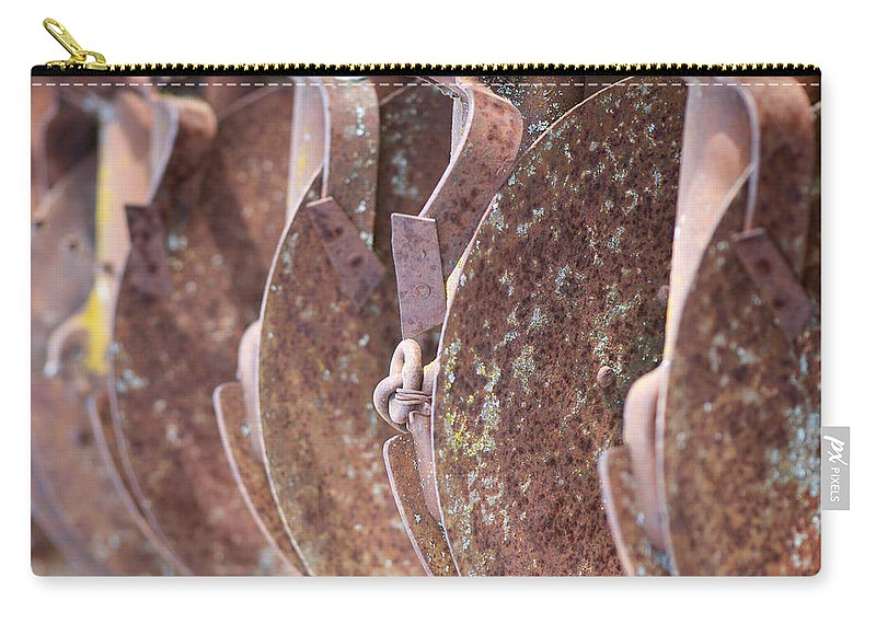 Lisa Knechtel Carry-all Pouch featuring the photograph Rusted Blades by Lisa Knechtel