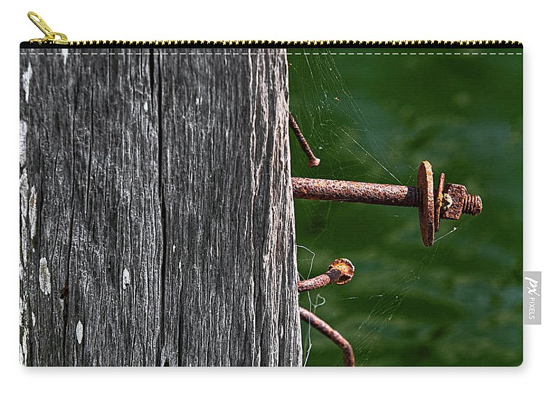 Bolt Carry-all Pouch featuring the photograph Rusted by Christopher Holmes