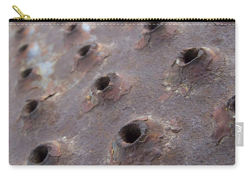 Rust Carry-all Pouch featuring the photograph Rusted Pattern by Jeffery Ball