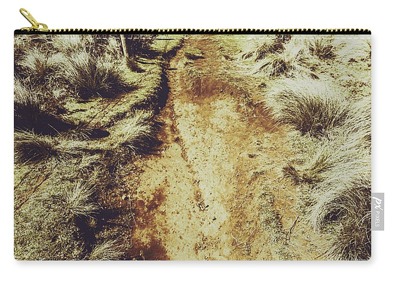 Nature Carry-all Pouch featuring the photograph Rustic Country Trails by Jorgo Photography - Wall Art Gallery
