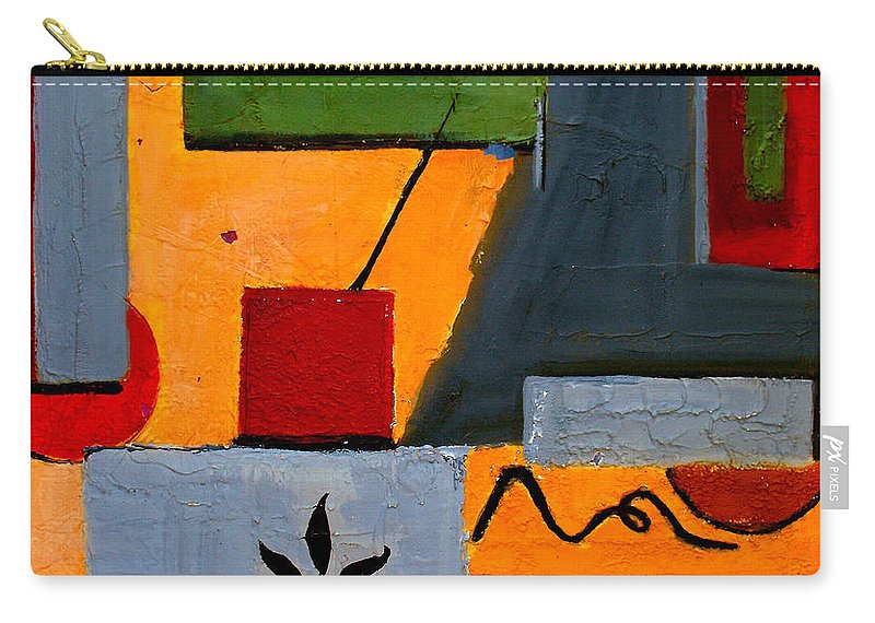 Abstract Carry-all Pouch featuring the painting Rustic Garden by Ruth Palmer