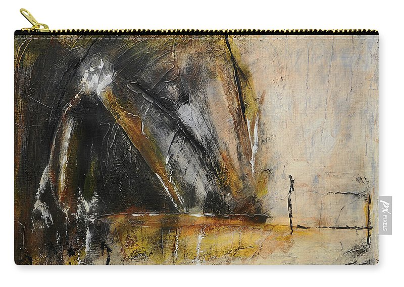 Abstract Carry-all Pouch featuring the painting Rustic Interlude by Jim Benest