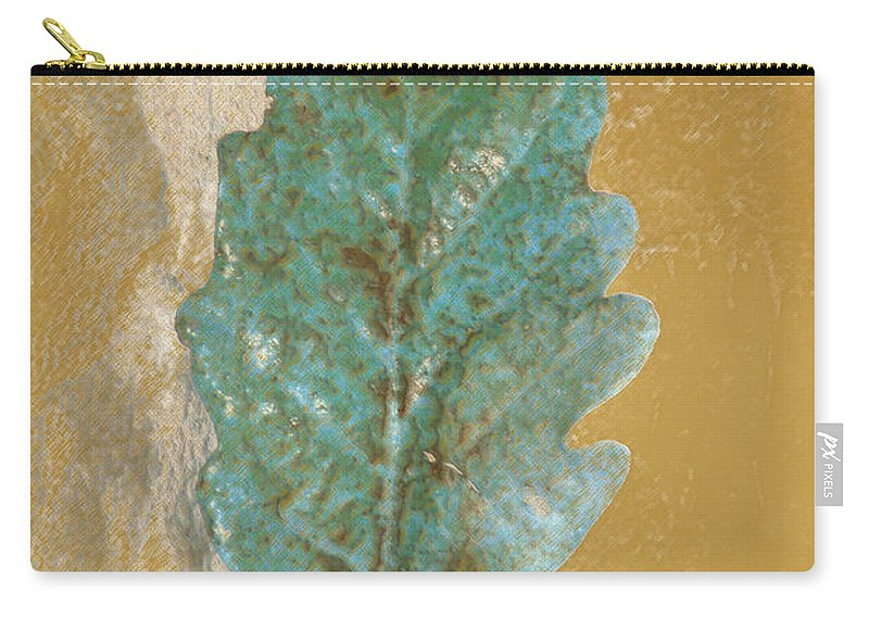Leaves Carry-all Pouch featuring the photograph Rustic Leaf by Linda Sannuti