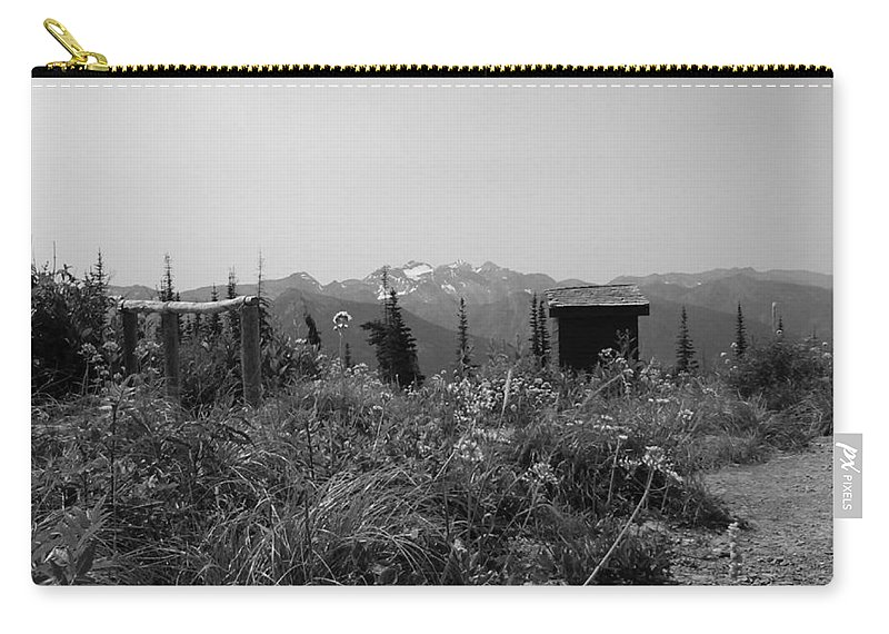 Mountains Carry-all Pouch featuring the photograph Rustic Montana View by Eric Fellegy