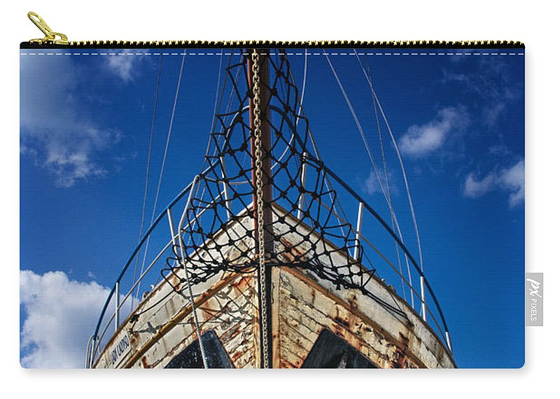 Abandoned Carry-all Pouch featuring the photograph Rusting Boat by Stelios Kleanthous