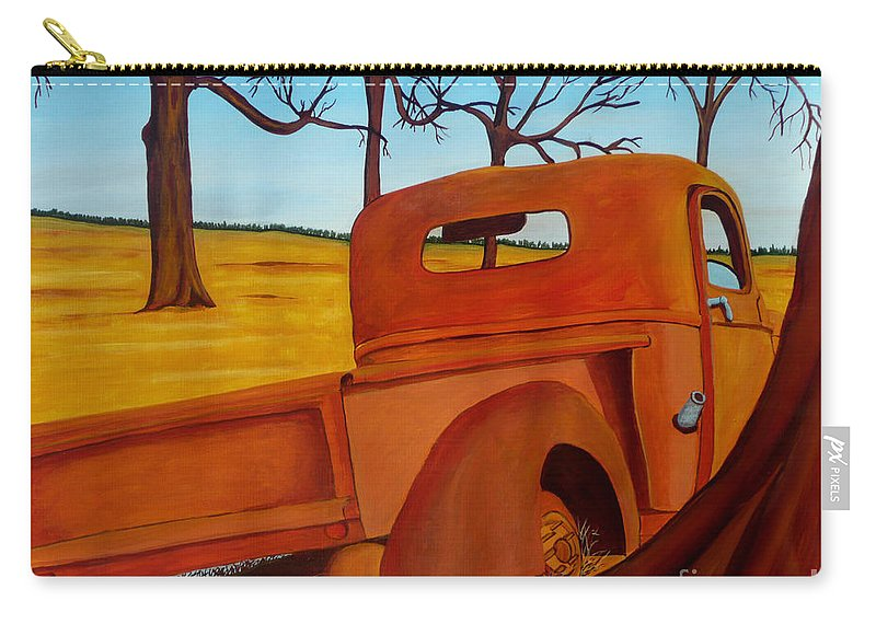 Truck Carry-all Pouch featuring the painting Rusting In Peace by Anthony Dunphy