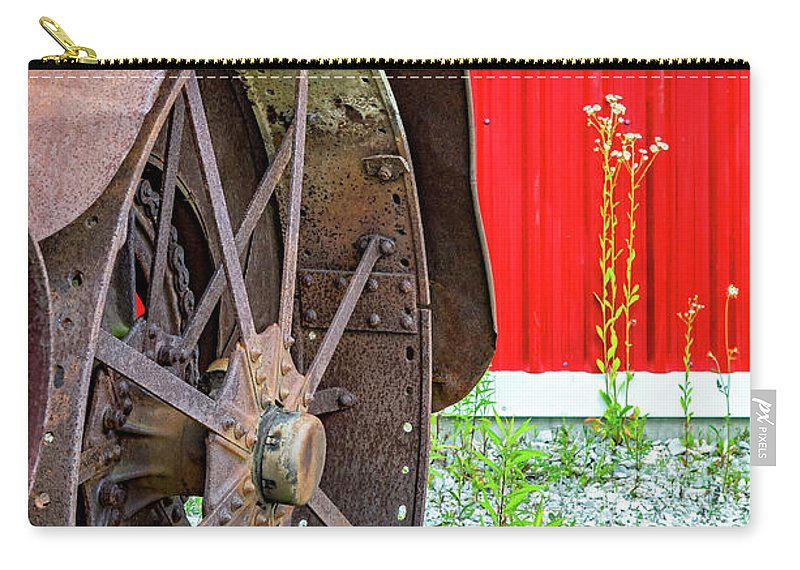 Ontario Carry-all Pouch featuring the photograph Rustology - The Aesthetics Of Rusty Line And Form by Steve Harrington