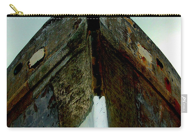Boat Carry-all Pouch featuring the photograph Rusty Bow by Susanne Van Hulst