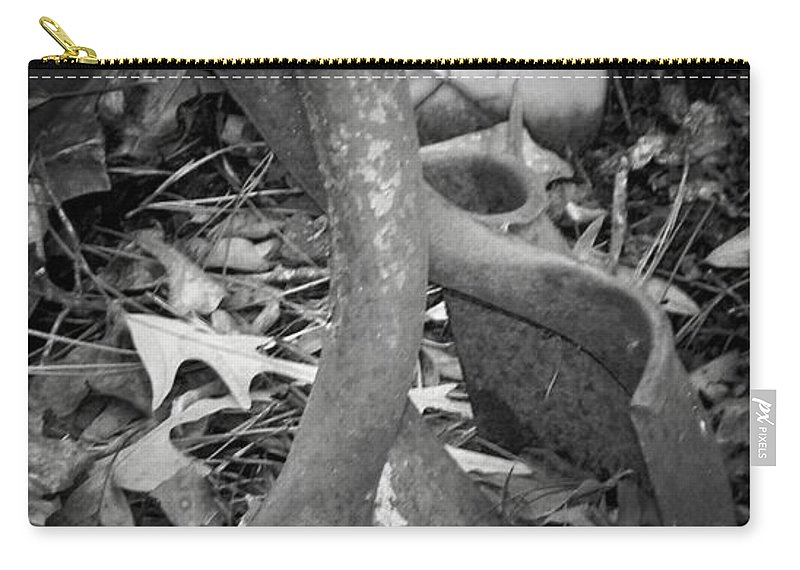 Shovel Carry-all Pouch featuring the photograph Rusty Embrace by Betty Northcutt