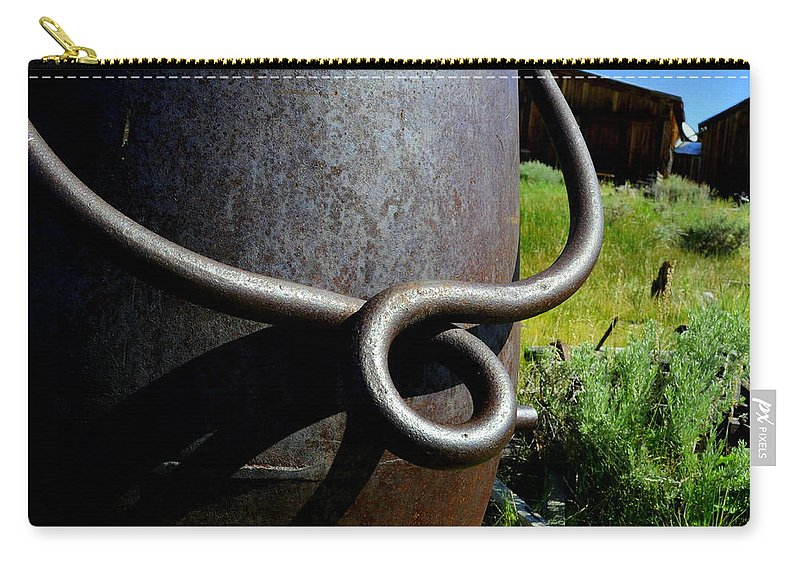 Landscape Carry-all Pouch featuring the photograph Rusty Handle by Shannon Nickerson