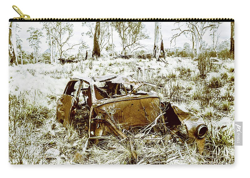 Holden Carry-all Pouch featuring the photograph Rusty Old Holden Car Wreck by Jorgo Photography - Wall Art Gallery