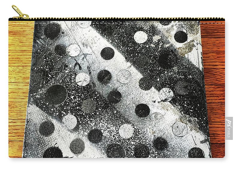 Abstract Spray Painting On Canvas. *wooden Background-can Be Included In Print If Notified* Carry-all Pouch featuring the painting Rusty Winter by Piyush Jain