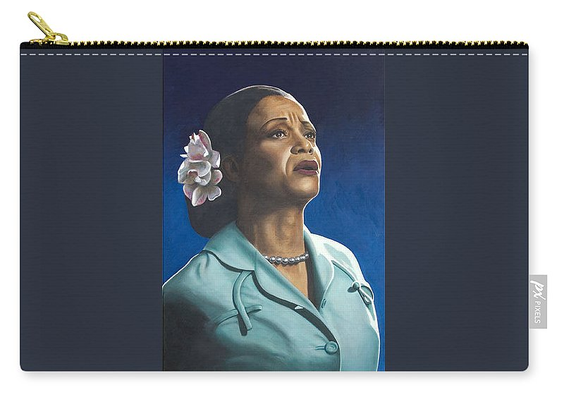Portrait Carry-all Pouch featuring the painting Ruth Jacott by Rob De Vries