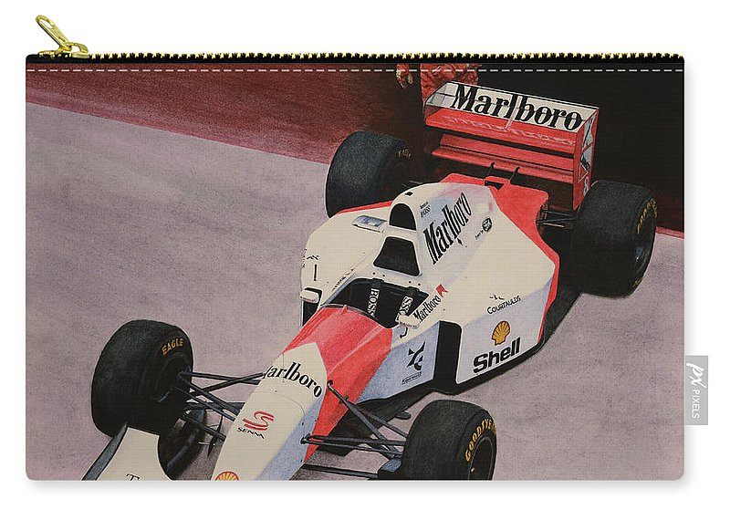 Formula One Carry-all Pouch featuring the painting S by Oleg Konin