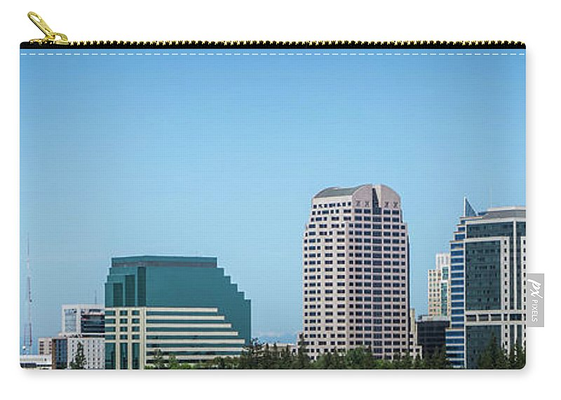 California Carry-all Pouch featuring the photograph Sacramento California Cityscape Skyline On Sunny Day by Alex Grichenko