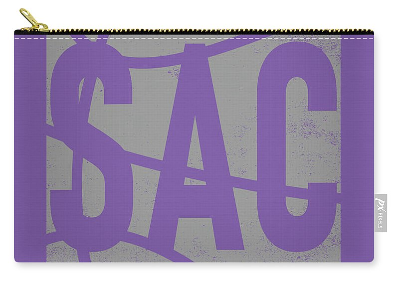 Kings Carry-all Pouch featuring the mixed media Sacramento Kings City Poster Art by Joe Hamilton
