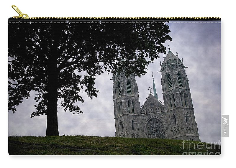 Newark Carry-all Pouch featuring the photograph Sacred Heart Cathedral Newark New Jersey by Yuri Lev