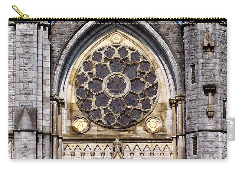 Ireland Carry-all Pouch featuring the photograph Sacred Heart Church Detail Roscommon Ireland by Teresa Mucha