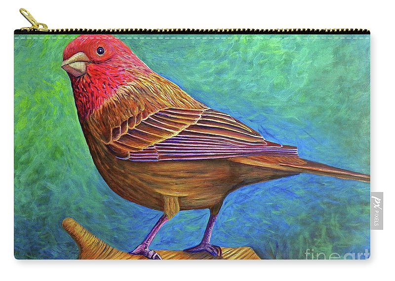 Bird Carry-all Pouch featuring the painting Sacred Space by Brian Commerford