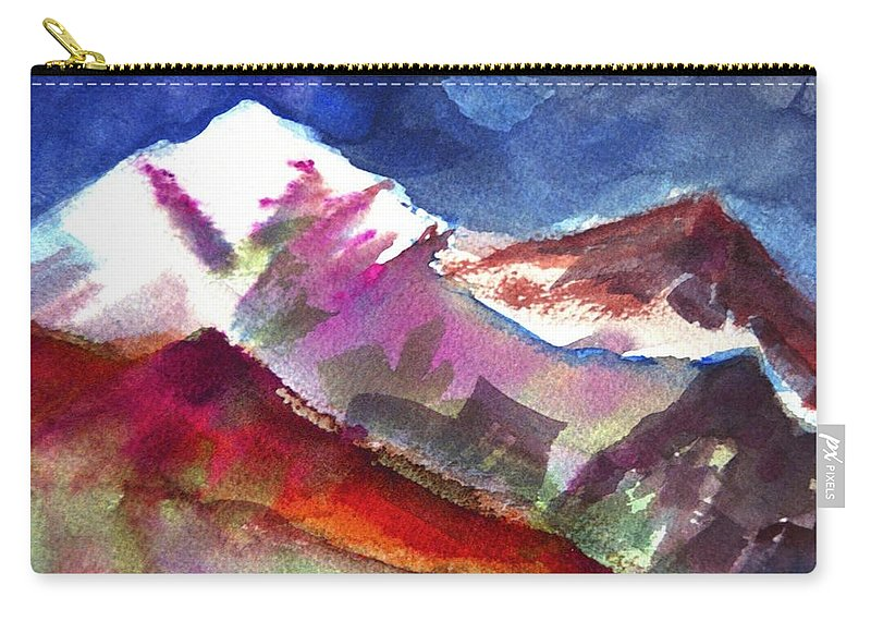 Mountain Carry-all Pouch featuring the painting Sacredness by Ishwar Malleret