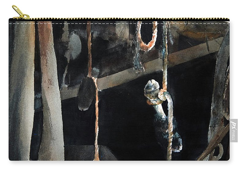 Abstract Carry-all Pouch featuring the painting Sacrifice by Rachel Christine Nowicki