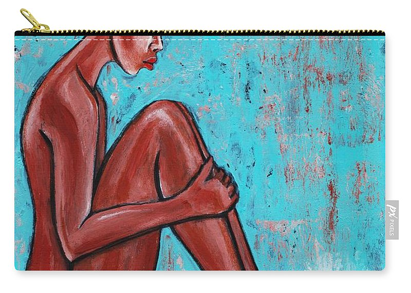 Artbyria Carry-all Pouch featuring the photograph sad Ballet by Artist RiA