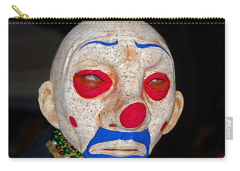 Sad Carry-all Pouch featuring the painting Sad Clown by David Lee Thompson