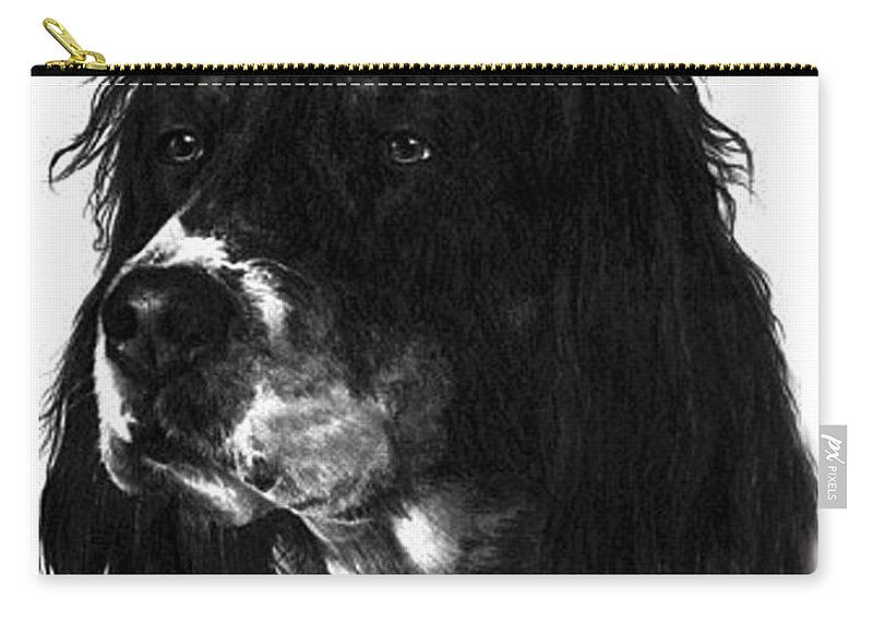 Portrait Carry-all Pouch featuring the drawing Sadie by Rachel Christine Nowicki
