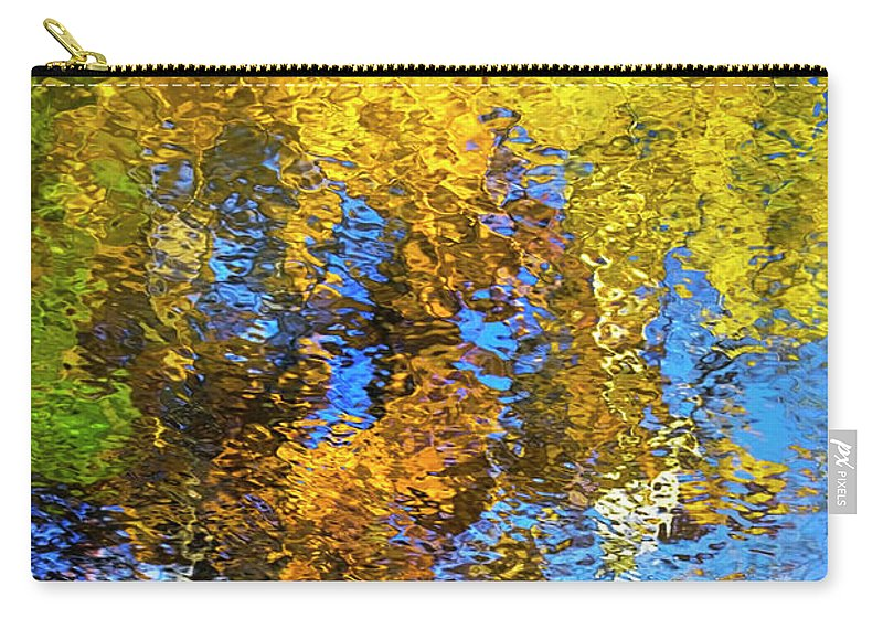 Safari Carry-all Pouch featuring the photograph Safari Mosaic Abstract Art by Christina Rollo