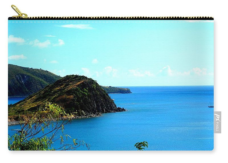 St Kitts Carry-all Pouch featuring the photograph Safe Harbor by Ian MacDonald