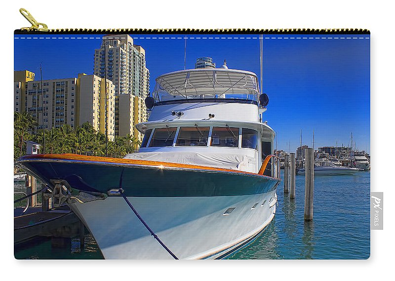 Boats Carry-all Pouch featuring the photograph Yacht - Safe Harbor Series 39 by Carlos Diaz