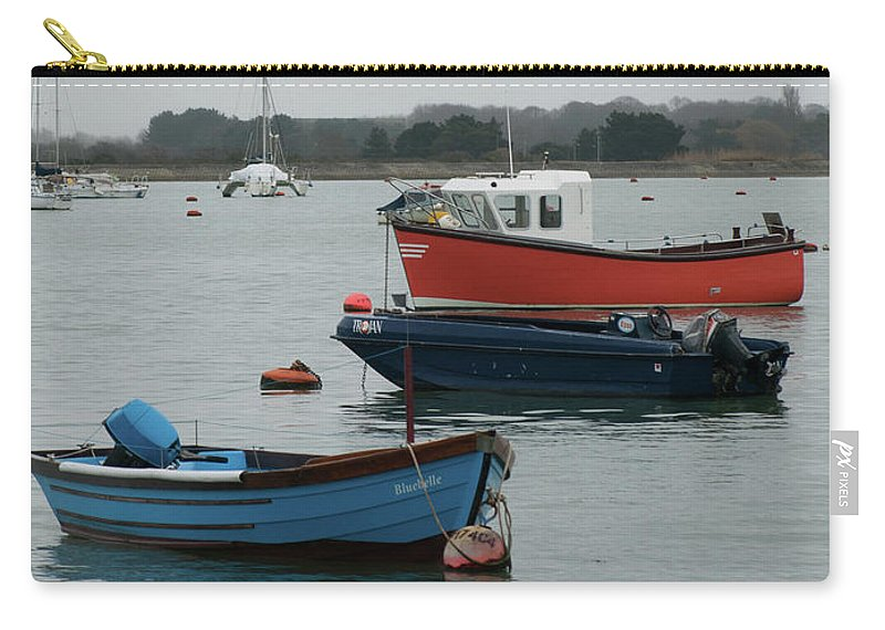 Boats Carry-all Pouch featuring the photograph Safe Harbour On A Murky Day by Josie Gilbert