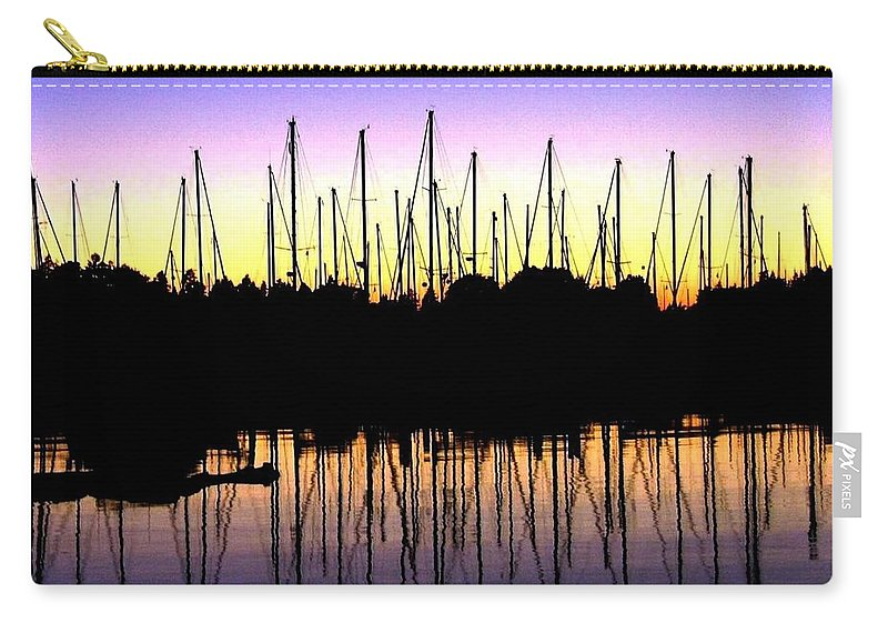 Sailboats Carry-all Pouch featuring the photograph Safe Haven by Will Borden