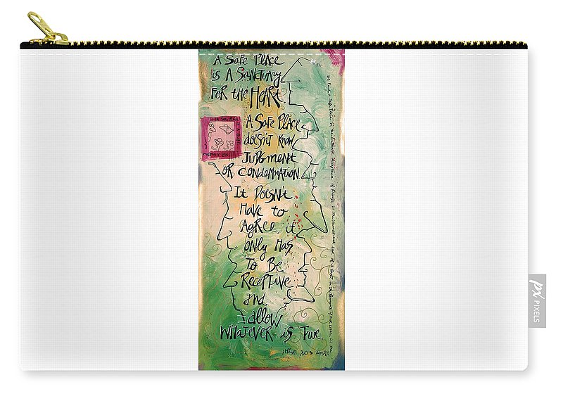 Gallery Carry-all Pouch featuring the digital art Safe Place by Dar Freeland