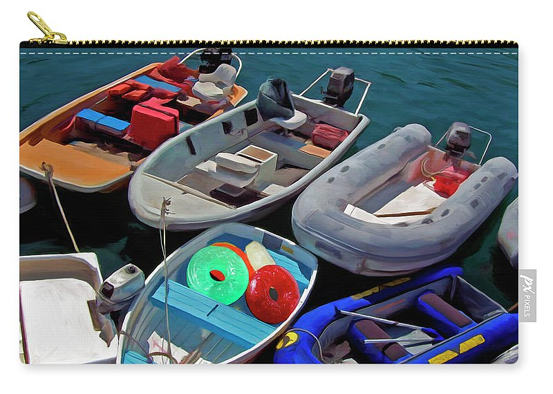 Boats Carry-all Pouch featuring the painting Safety First by Snake Jagger