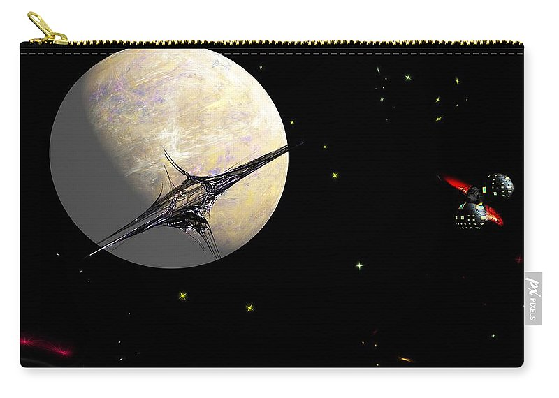 Abstract Carry-all Pouch featuring the digital art Sagan Station At Betelgeuse IIi by David Lane