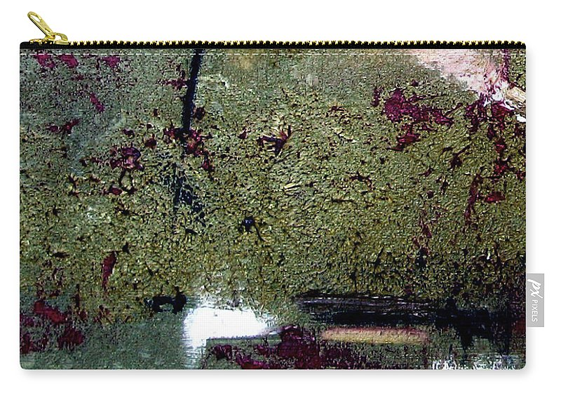 Abstract Carry-all Pouch featuring the painting Sage And Plum by Ruth Palmer