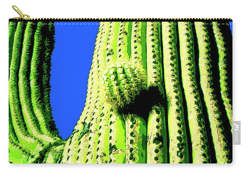 Saguaro Carry-all Pouch featuring the mixed media Saguaro by Dominic Piperata