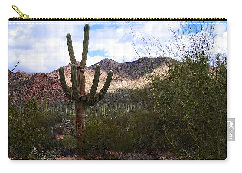 Photography Carry-all Pouch featuring the photograph Saguaro National Park by Susanne Van Hulst
