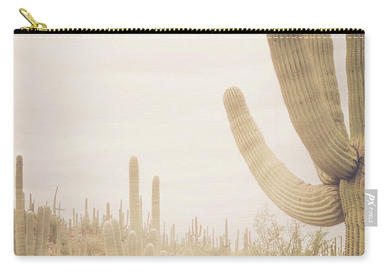 Cactus Carry-all Pouch featuring the photograph Saguaro Sunrise by The Dreamery Fine Art Photography