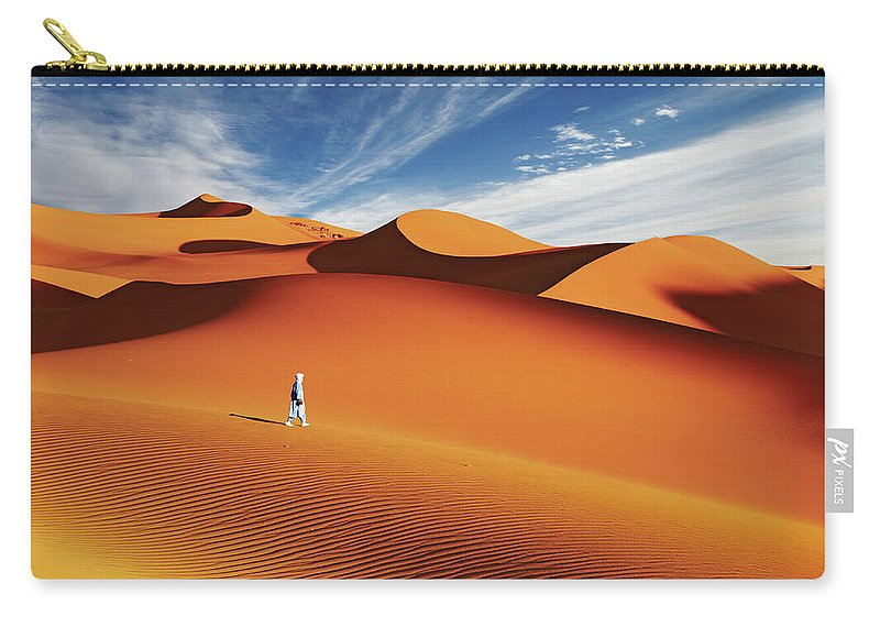 Africa Carry-all Pouch featuring the photograph Sahara Desert, Algeria by Dmitry Pichugin